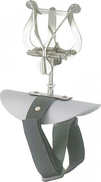 Marschgabel mittlere Lyra Flöte Tragplatte und Klettverschluss