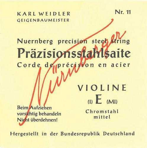 Nürnberger Präzision Violine Satz 1/2