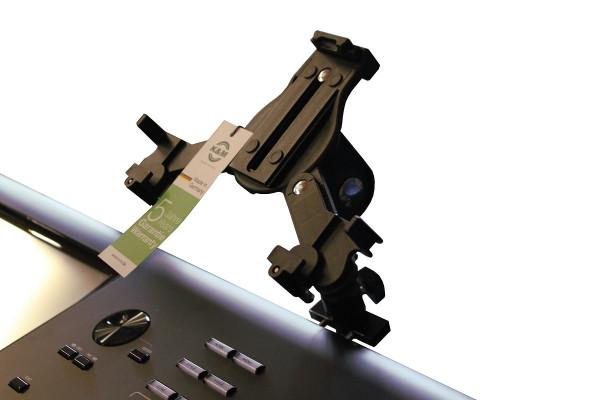 K&M 19791 Tablet Halter mit Adapter für Yamaha Genos