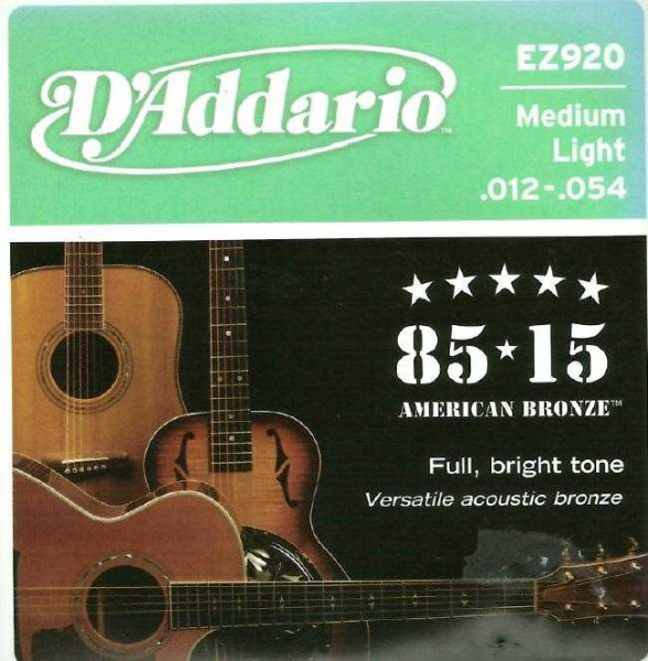 D'Addario EZ920 für Westerngitarre