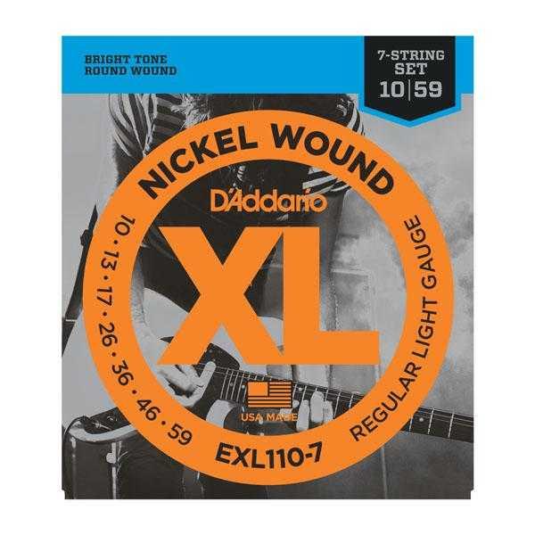D'Addario EXL110-7 für 7-saitige E-Gitarre