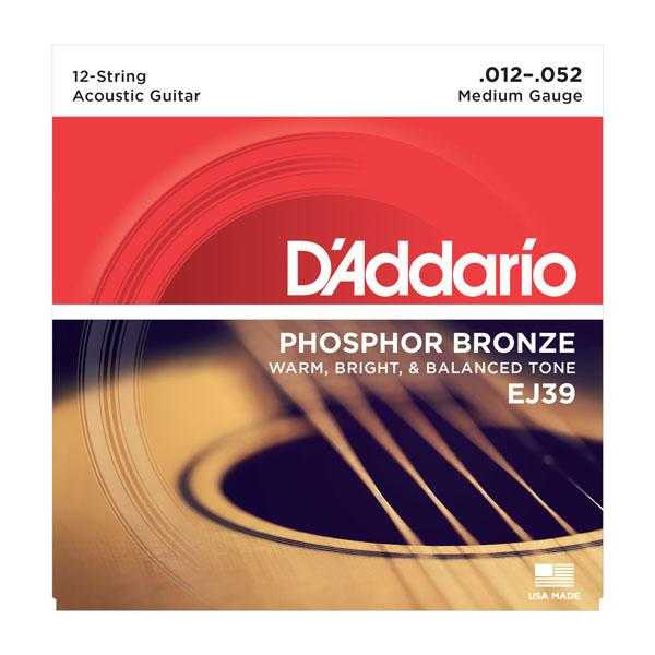 D'Addario EJ39 für 12-saitige Westerngitarre
