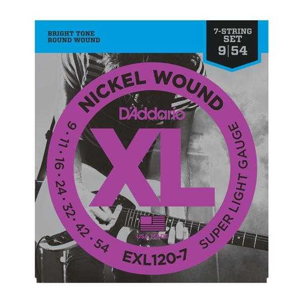 D'Addario EXL120-7 für 7-saitige E-Gitarre